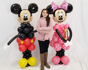 Mickey and Minnie Mouse Balloon Sculptures - Balloons by Tommy