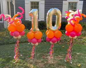 Birthday Yard Balloon Decor - Balloons by Tommy